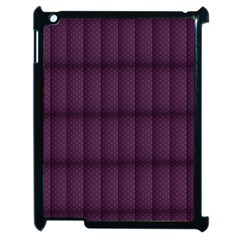 Plaid Purple Apple Ipad 2 Case (black) by Alisyart