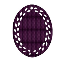 Plaid Purple Ornament (oval Filigree)