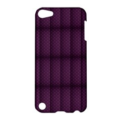 Plaid Purple Apple Ipod Touch 5 Hardshell Case by Alisyart