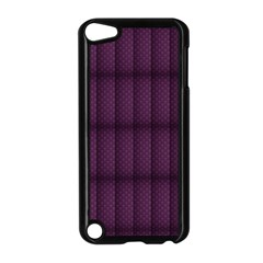 Plaid Purple Apple Ipod Touch 5 Case (black) by Alisyart