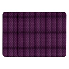 Plaid Purple Samsung Galaxy Tab 8 9  P7300 Flip Case