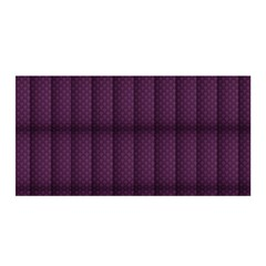 Plaid Purple Satin Wrap