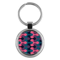 Symmetry Celtic Knots Contemporary Fabric Puzzel Key Chains (round)