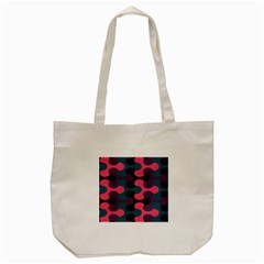 Symmetry Celtic Knots Contemporary Fabric Puzzel Tote Bag (cream) by Alisyart