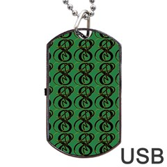 Abstract Pattern Graphic Lines Dog Tag Usb Flash (one Side) by Amaryn4rt