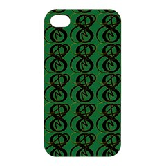 Abstract Pattern Graphic Lines Apple Iphone 4/4s Premium Hardshell Case by Amaryn4rt