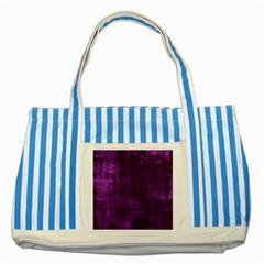 Background Wallpaper Paint Lines Striped Blue Tote Bag by Amaryn4rt