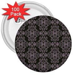 Line Geometry Pattern Geometric 3  Buttons (100 Pack)