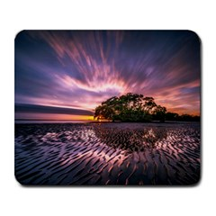 Landscape Reflection Waves Ripples Large Mousepads by Amaryn4rt
