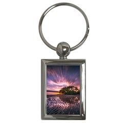 Landscape Reflection Waves Ripples Key Chains (rectangle)  by Amaryn4rt
