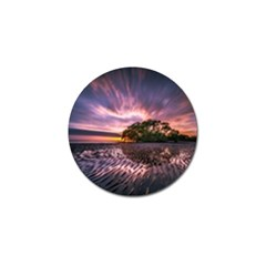 Landscape Reflection Waves Ripples Golf Ball Marker by Amaryn4rt