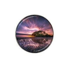 Landscape Reflection Waves Ripples Hat Clip Ball Marker by Amaryn4rt