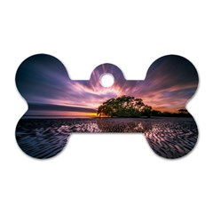 Landscape Reflection Waves Ripples Dog Tag Bone (one Side) by Amaryn4rt