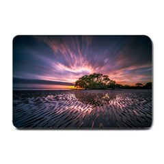 Landscape Reflection Waves Ripples Small Doormat  by Amaryn4rt