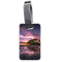 Landscape Reflection Waves Ripples Luggage Tags (one Side)  by Amaryn4rt