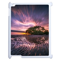 Landscape Reflection Waves Ripples Apple Ipad 2 Case (white) by Amaryn4rt