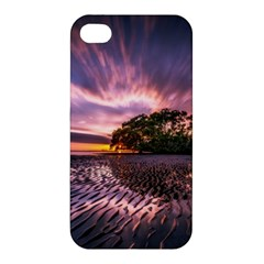Landscape Reflection Waves Ripples Apple Iphone 4/4s Hardshell Case by Amaryn4rt