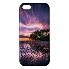 Landscape Reflection Waves Ripples Apple Iphone 5 Premium Hardshell Case by Amaryn4rt