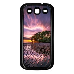 Landscape Reflection Waves Ripples Samsung Galaxy S3 Back Case (black) by Amaryn4rt
