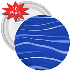 Lines Swinging Texture  Blue Background 3  Buttons (10 Pack)  by Amaryn4rt