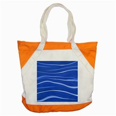 Lines Swinging Texture  Blue Background Accent Tote Bag by Amaryn4rt