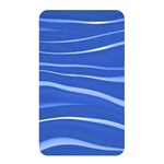 Lines Swinging Texture  Blue Background Memory Card Reader Front