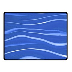 Lines Swinging Texture  Blue Background Fleece Blanket (small) by Amaryn4rt