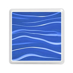 Lines Swinging Texture  Blue Background Memory Card Reader (square)  by Amaryn4rt
