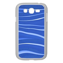 Lines Swinging Texture  Blue Background Samsung Galaxy Grand Duos I9082 Case (white) by Amaryn4rt