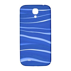 Lines Swinging Texture  Blue Background Samsung Galaxy S4 I9500/i9505  Hardshell Back Case by Amaryn4rt