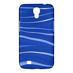 Lines Swinging Texture  Blue Background Samsung Galaxy Mega 6 3  I9200 Hardshell Case by Amaryn4rt