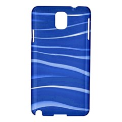 Lines Swinging Texture  Blue Background Samsung Galaxy Note 3 N9005 Hardshell Case by Amaryn4rt