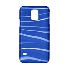 Lines Swinging Texture  Blue Background Samsung Galaxy S5 Hardshell Case  by Amaryn4rt