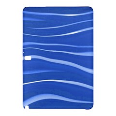 Lines Swinging Texture  Blue Background Samsung Galaxy Tab Pro 10 1 Hardshell Case by Amaryn4rt