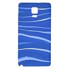 Lines Swinging Texture  Blue Background Galaxy Note 4 Back Case by Amaryn4rt