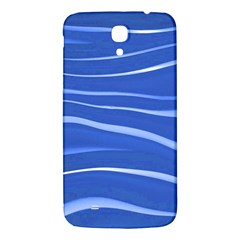 Lines Swinging Texture  Blue Background Samsung Galaxy Mega I9200 Hardshell Back Case by Amaryn4rt