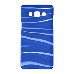 Lines Swinging Texture  Blue Background Samsung Galaxy A5 Hardshell Case  by Amaryn4rt