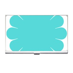 Turquoise Flower Blue Business Card Holders by Alisyart