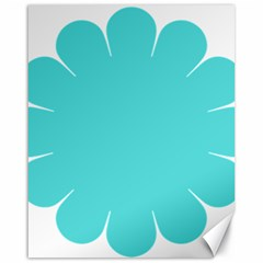 Turquoise Flower Blue Canvas 16  X 20   by Alisyart