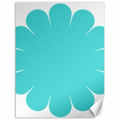 Turquoise Flower Blue Canvas 18  X 24   by Alisyart