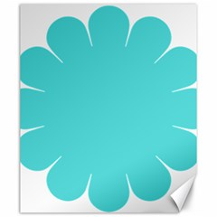 Turquoise Flower Blue Canvas 20  X 24   by Alisyart