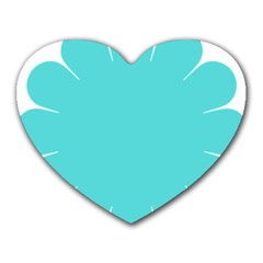 Turquoise Flower Blue Heart Mousepads by Alisyart