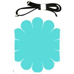 Turquoise Flower Blue Shoulder Sling Bags by Alisyart