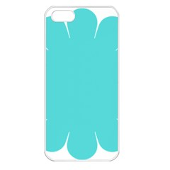 Turquoise Flower Blue Apple Iphone 5 Seamless Case (white) by Alisyart