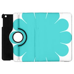 Turquoise Flower Blue Apple Ipad Mini Flip 360 Case by Alisyart
