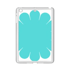 Turquoise Flower Blue Ipad Mini 2 Enamel Coated Cases