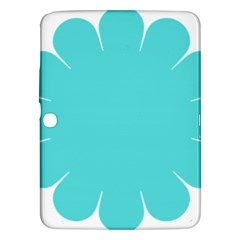 Turquoise Flower Blue Samsung Galaxy Tab 3 (10 1 ) P5200 Hardshell Case