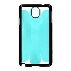 Turquoise Flower Blue Samsung Galaxy Note 3 Neo Hardshell Case (black)