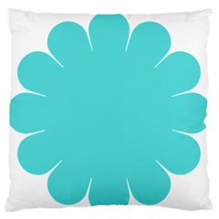 Turquoise Flower Blue Large Flano Cushion Case (one Side) by Alisyart