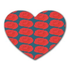 Rose Repeat Red Blue Beauty Sweet Heart Mousepads